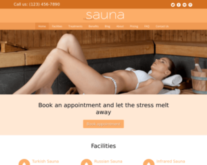 Sauna WordPress Thema