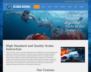 Diepzee duiken WordPress Thema