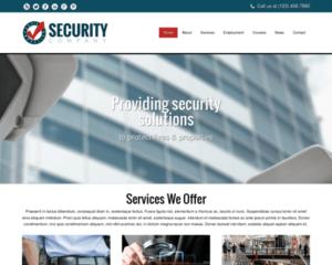 Beveiligingsbedrijf WordPress Thema