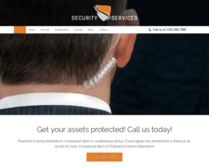 Beveiligingsdiensten WordPress Thema