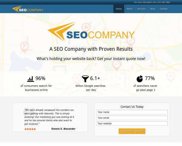 SEO bedrijf WordPress Thema