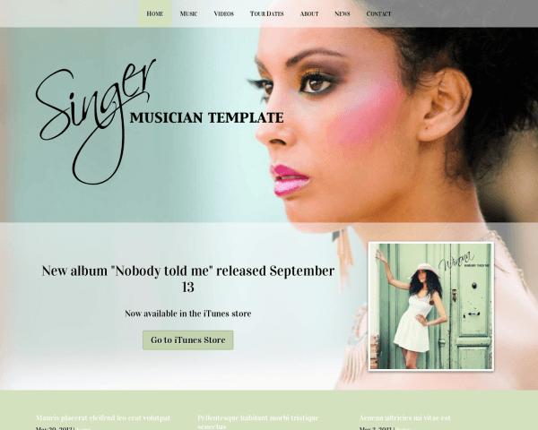 zanger/zangeres WordPress Thema