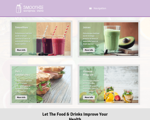 Smoothie WordPress Thema