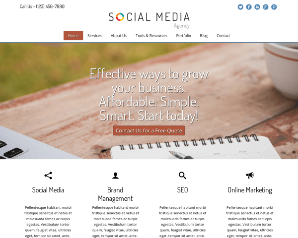 Social Media Bureau WordPress Thema