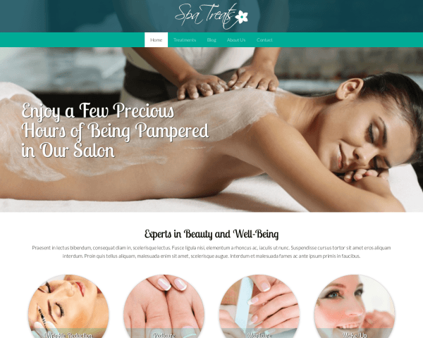 Spa centrum WordPress Thema