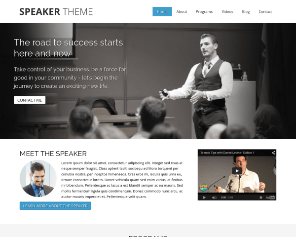 Spreker WordPress Thema
