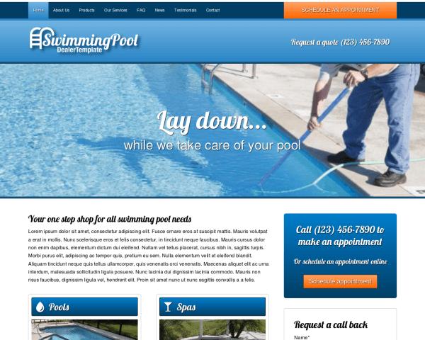 Zwembad WordPress Thema