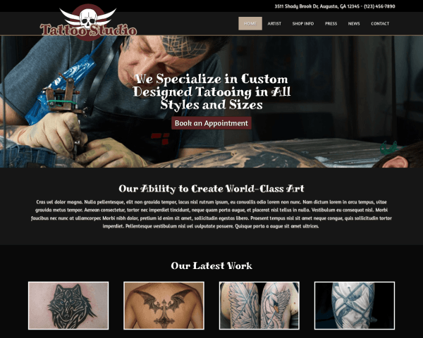 Tattoo shop WordPress Thema