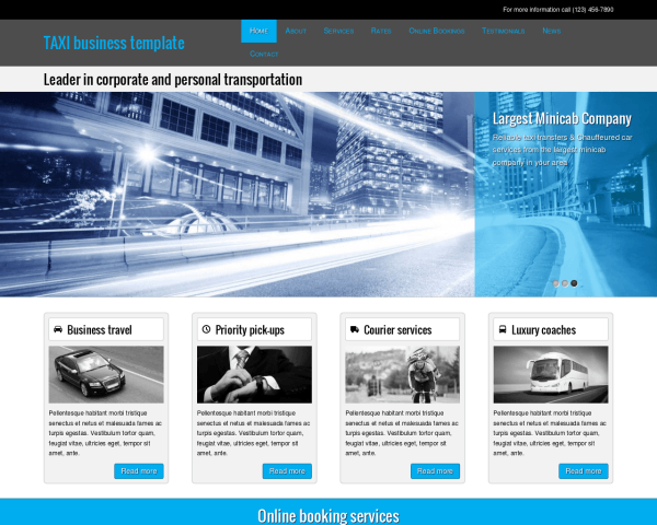 Taxi shop WordPress Thema