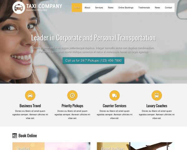 Taxibedrijf WordPress Thema
