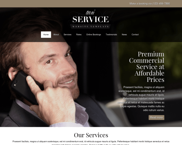 Taxi service WordPress Thema