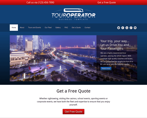 Touroperator WordPress Thema