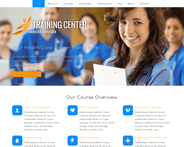 Trainingscentrum WordPress Thema