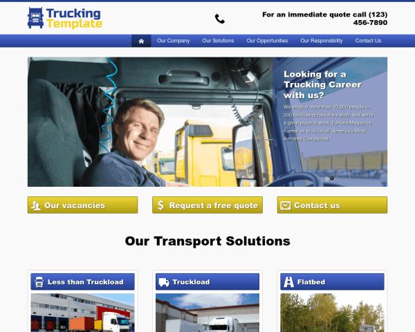 Transportbedrijf WordPress Thema