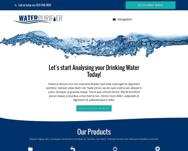 Waterzuiveraar WordPress Thema