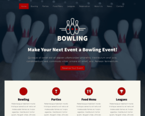 Bowling WordPress Thema