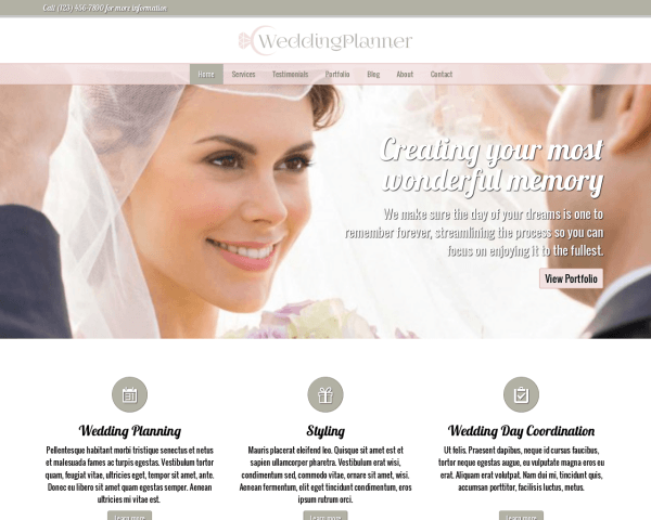 Wedding planner WordPress Thema