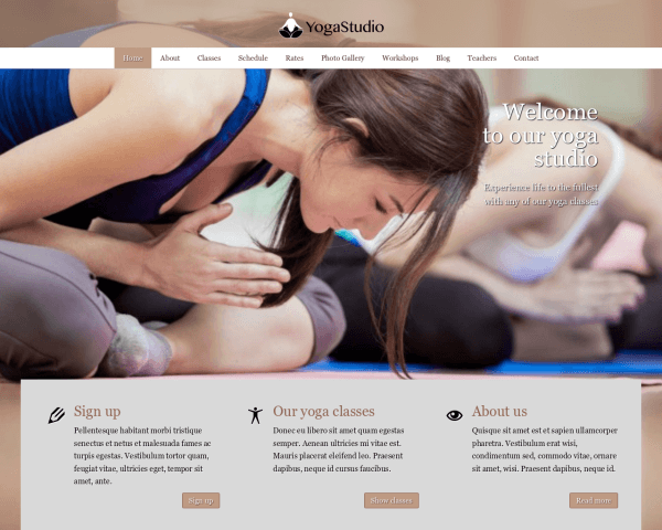 Yoga WordPress Thema