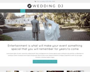 Bruiloft DJ WordPress Thema