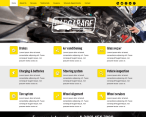 Autogarage WordPress Thema